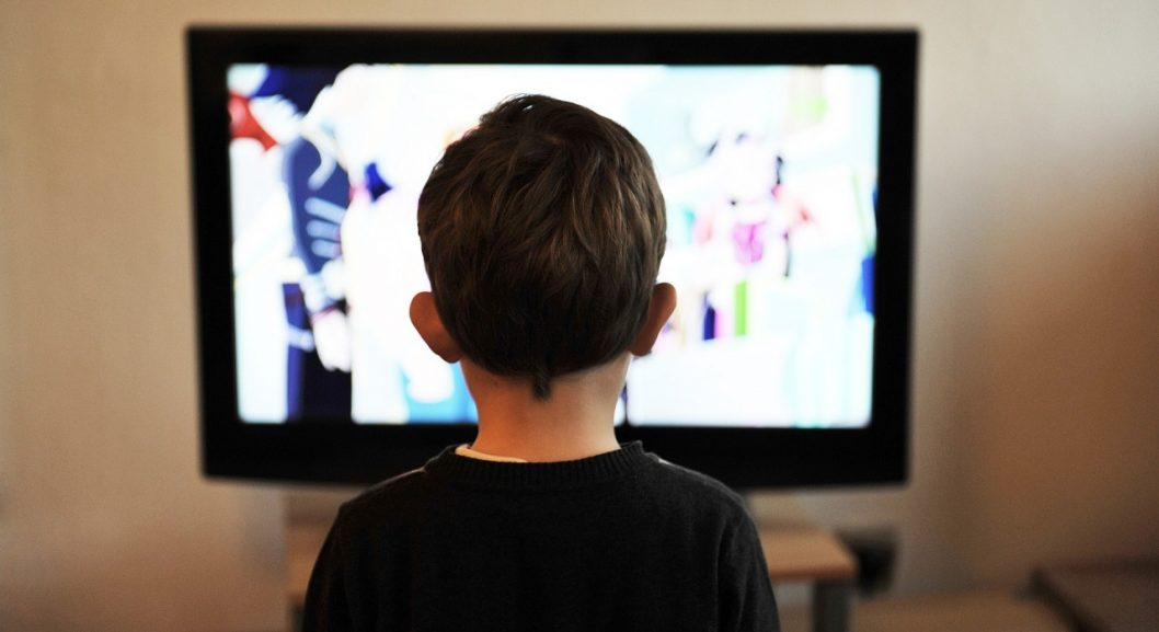child watching a TV