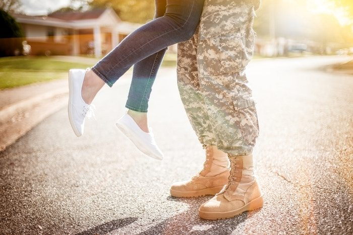 Military spouses often have to spend tons of time apart. One couple gets super creative.