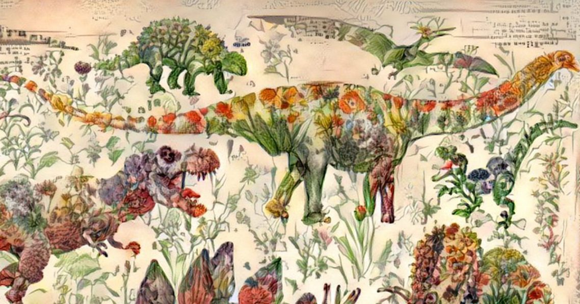 Artificial Intelligence Turns A Book Of Flowers Into Surprisingly Lovely Dinosaur Art