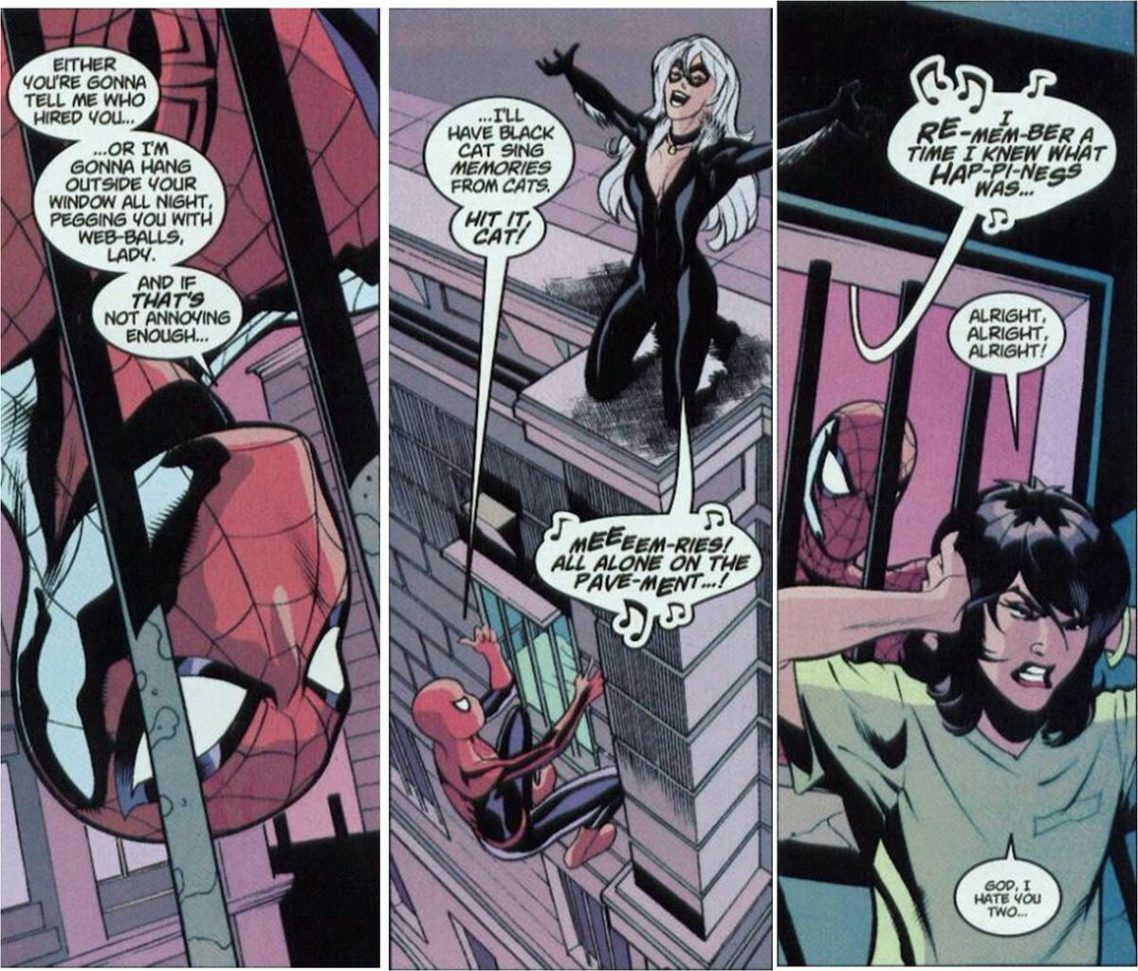 Spiderman and the Black Cat.