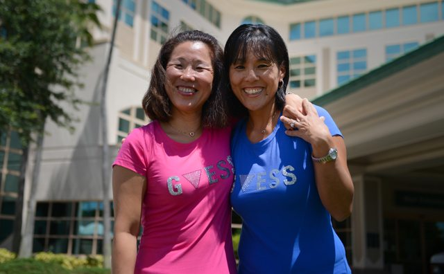 Sisters apart for 40 years reunited by working in the same U.S. hospital.