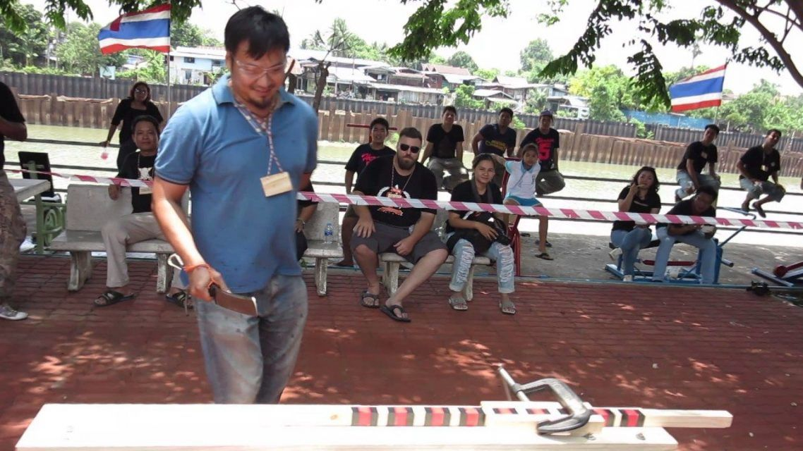 Epic knife cutting competition in Thailand.