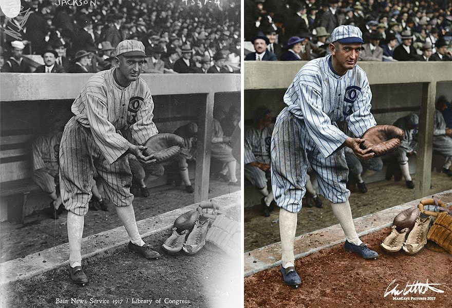 I Restored And Colorized Century-Old Photos From Major League Baseball