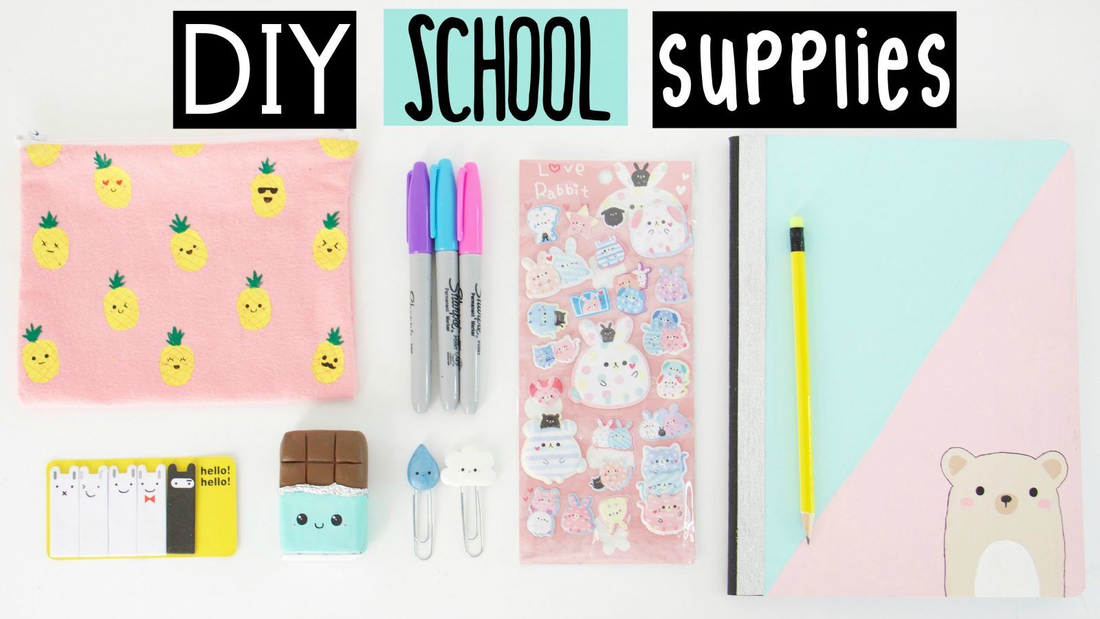 24 DIY Back to School Supplies