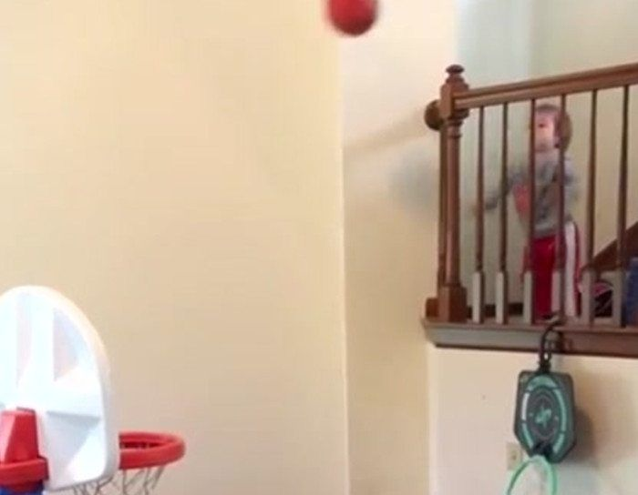 We've found the next great NBA player, and he's only two years old.
