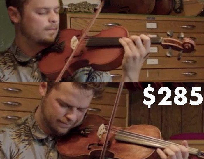 The difference between a $60 violin and a $285K violin.