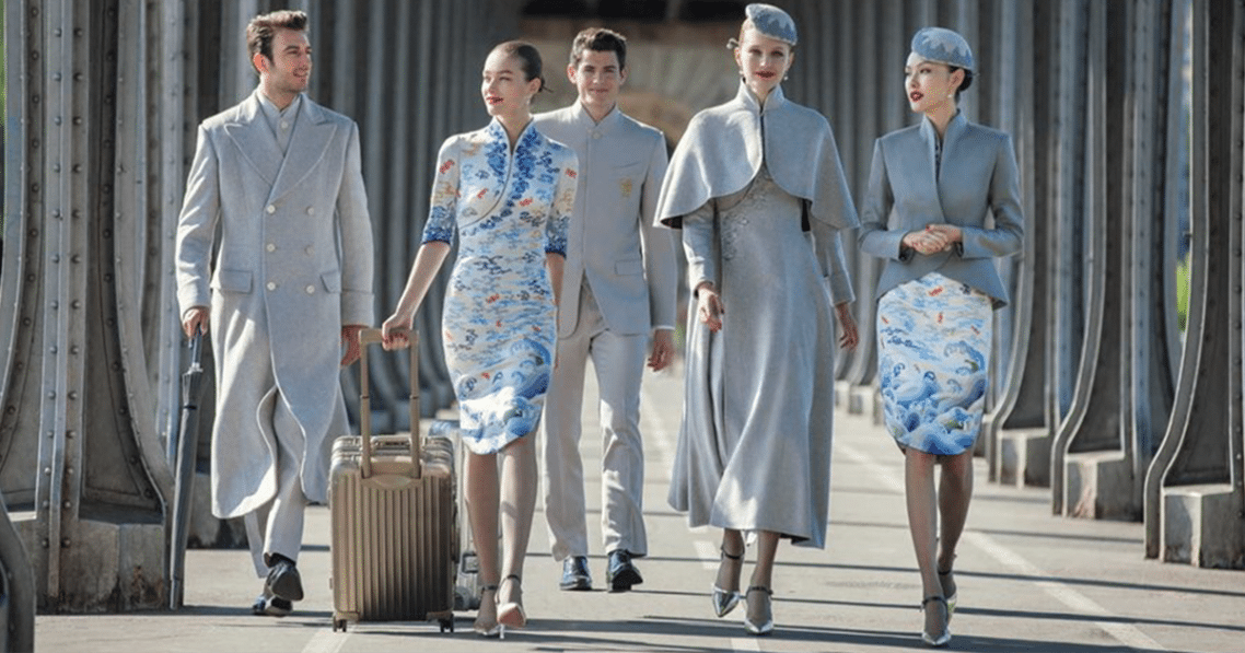 Chinese Airlines New Haute Couture Uniforms Puts Other Airlines To Shame