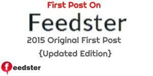 The First Post on Feedster – A New Beginning