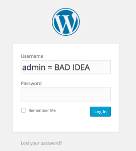 change admin username wordpress