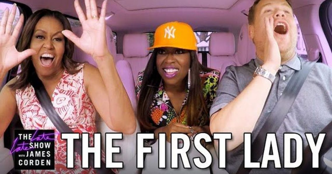 Michelle Obama Has Carpool Karaoke, Featuring a Special Guest!