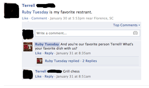 The Best Comments Left by Old People to Food Chains.