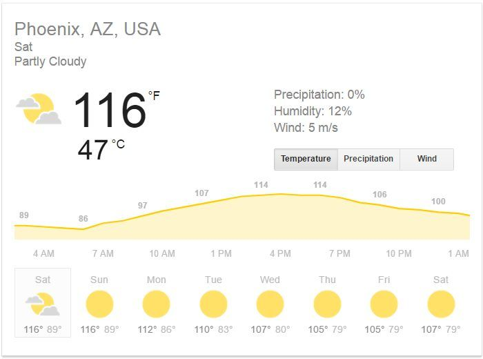 Temperatures In Arizona Are So High Right Now That People Are Posting Pics Of Things Melting