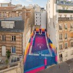 This Technicolor Basketball Court In Paris Just Made The City Even Cooler