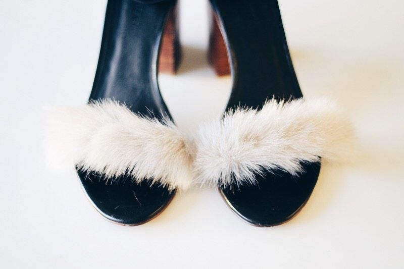 How to Make Your Own Fake-Fur Sandals