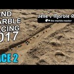 Sand marble races are a lot more thrilling than you'd think.