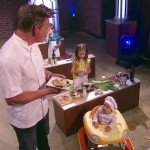 "Chaos ensues as Gordon Ramsay launches ""Master Chef"" for toddlers."