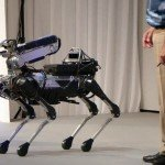 "Boston Dynamics ""Spot Mini"" demonstration."