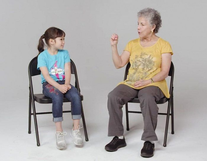 Kids meet a woman with Alzheimer's.