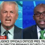 Things got ugly when a Republican strategist accused a former CIA analyst of earning 'more money' with his security clearance